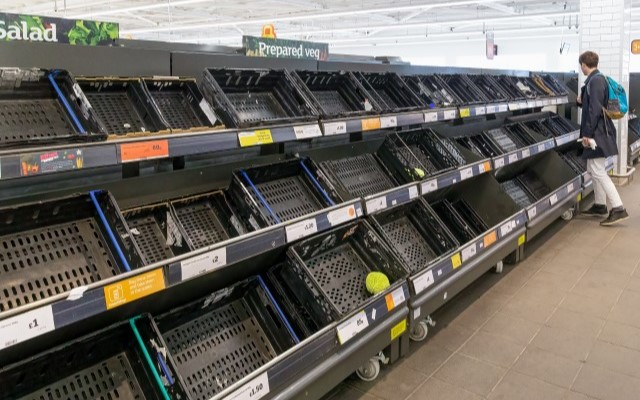 1 Empty Supermarket Shelves